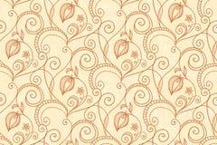 reticolo di fiore dell'Mano-illustrazione Immagini Stock