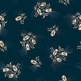 Reticolo di fiore floreale senza giunte illustrazione di stock