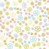 Reticolo di fiore semplice Immagine Stock