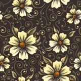 Reticolo di fiore senza cuciture dell'annata illustrazione di stock