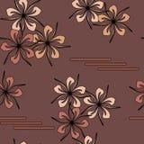 Reticolo di fiore senza giunte di arte Fotografie Stock Libere da Diritti