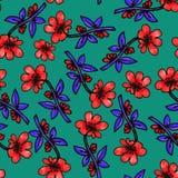 Reticolo di fiore senza giunte Fiori delicati di estate e della primavera Stampa per tessuto ed altre superfici Reticolo floreale royalty illustrazione gratis