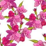 Reticolo di fiore senza giunte di vettore Fotografie Stock