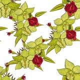 Reticolo di fiore senza giunte di vettore Fotografia Stock
