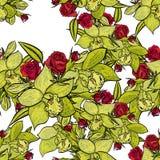 Reticolo di fiore senza giunte di vettore Immagine Stock