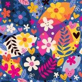 Reticolo di fiori Immagini Stock