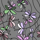 Reticolo di fiori senza giunte Fotografia Stock