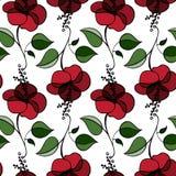 Reticolo di fiori senza giunte Immagine Stock Libera da Diritti