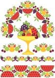 Reticolo di frutta Fotografie Stock