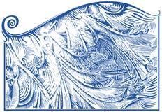 Reticolo di gelo sulla finestra Fotografie Stock Libere da Diritti