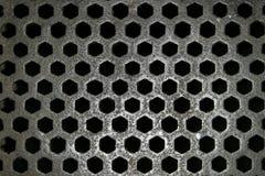 Reticolo di griglia d'acciaio Fotografia Stock