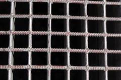 Reticolo di griglia metallico Immagine Stock Libera da Diritti