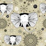 Reticolo di inverno con le maschere degli elefanti Fotografia Stock Libera da Diritti