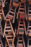 Reticolo di legno delle feci Fotografia Stock Libera da Diritti