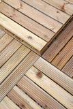 Reticolo di legno di decking Fotografie Stock Libere da Diritti