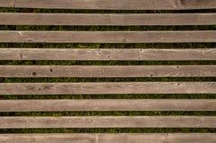 Reticolo di legno orizzontale Fotografie Stock Libere da Diritti