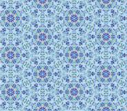 Reticolo di mosaico floreale senza giunte Immagine Stock Libera da Diritti