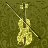 Reticolo di musica country - violino Immagini Stock