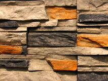 Reticolo di pietra 1 del muro di mattoni immagine stock