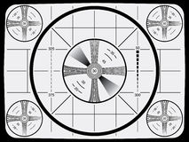 Reticolo di prova della televisione illustrazione di stock