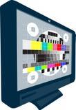 Reticolo di prova della televisione del plasma TV dell'affissione a cristalli liquidi Immagine Stock