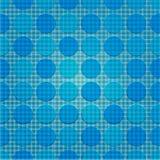 Reticolo di puntino blu di ripetizione Immagini Stock Libere da Diritti