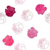 Reticolo di rosa senza giunte Fotografia Stock Libera da Diritti