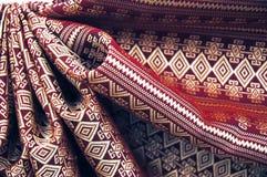 Reticolo di seta tailandese Fotografia Stock
