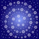 Reticolo di stella astratto della neve Fotografie Stock
