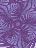 Reticolo di stella a spirale in senso orario illustrazione vettoriale