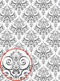 Reticolo di stile del damasco Fotografie Stock