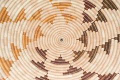 Reticolo di tessuto di cestino circolare Fotografia Stock Libera da Diritti