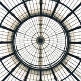 Reticolo di vetro della cupola del soffitto, Milano, Italia Fotografia Stock Libera da Diritti
