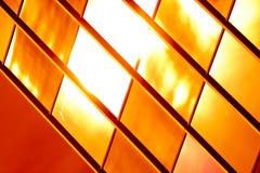 Reticolo di vetro dorato Fotografie Stock Libere da Diritti
