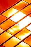 Reticolo di vetro dorato Fotografie Stock