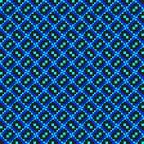Reticolo di zigzag blu diagonale Fotografia Stock