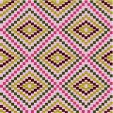 Reticolo di zigzag delle figure geometriche Immagini Stock