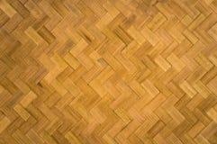 Reticolo di zigzag di bambù Immagine Stock