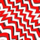 Reticolo di zigzag rosso Fotografia Stock Libera da Diritti