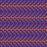 Reticolo di zigzag tessuto Fotografia Stock