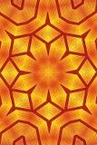 Reticolo dorato della carta da parati del caleidoscopio del fiore Immagini Stock Libere da Diritti