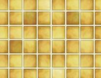 Reticolo dorato delle mattonelle Fotografia Stock Libera da Diritti