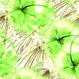 Reticolo esotico Fondo dell'acquerello di estate Fotografia Stock