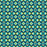 Reticolo etnico con i motivi geometrici Fotografia Stock