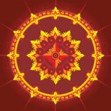 Reticolo etnico nel colore rosso Fotografia Stock Libera da Diritti