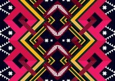 Reticolo etnico Progettazione geometrica del modello per fondo o la carta da parati Fotografia Stock Libera da Diritti
