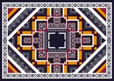 Reticolo etnico Progettazione geometrica del modello per fondo o la carta da parati illustrazione di stock