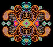 Reticolo etnico tribale arancione Immagini Stock
