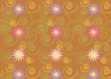 Reticolo floreale astratto Fotografia Stock
