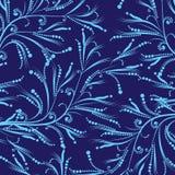 Reticolo floreale blu Immagine Stock Libera da Diritti
